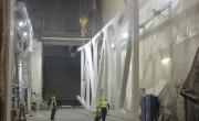 Rokkiporkkanan teräsristikko valmistumassa konepajalla Virossa